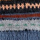 Steel-Multicolor Textured Ski Alpaca Fingerless Gloves