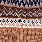 Camel Fair Isle Alpaca Hat