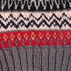 Dk. Grey Fair Isle Alpaca Hat