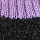 Charcoal.-Lavender Tassel Baby Alpaca Fingerless Gloves