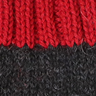 Charcoal.-Red Tassel Baby Alpaca Fingerless Gloves