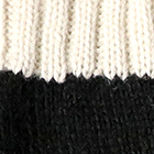 Black.-Natural Tassel Baby Alpaca Fingerless Gloves