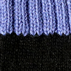 Black.-Periwinkle Tassel Baby Alpaca Fingerless Gloves