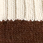 Brown.-Natural Tassel Baby Alpaca Fingerless Gloves