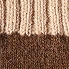 Brown Heather.-Beige Tassel Baby Alpaca Hat