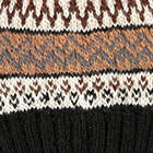 Black.-Comb3 Fair Isle Alpaca Hat