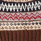 Brown.-Comb3 Fair Isle Alpaca Hat