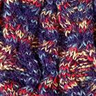 Purple Space Dye Cable Alpaca Hat