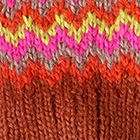 Dk.Rust-Multicolor1 Tribal Alpaca Long Fingerless Gloves
