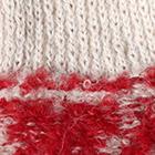 Red-Beige Shipibo Alpaca Boucle Gloves