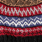 Fair Isle Alpaca Hat in Black.-Comb4