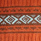 Dk. Rust-Brown Ethnic Baby Alpaca Infinity Scarf