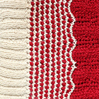 Natural-Red Waves Baby Alpaca Infinity Scarf