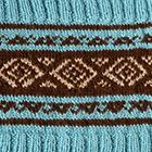 Turquoise-Brown Ethnic Baby Alpaca Infinity Scarf