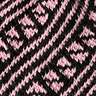 Black-Rose Diagonal Striped Alpaca Hat
