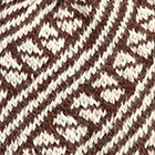 Brown-Natural  Diagonal Striped Alpaca Hat