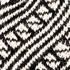 Black-Natural Diagonal Striped Alpaca Hat