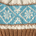 Natural-Camel-Turquoise Icelandic Baby Alpaca Hat