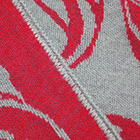 Grey-Red Butterfly Alpaca Shawl Reversible