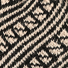 Black-Beige Diagonal Striped Alpaca Hat