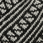 Black-Silver Diagonal Striped Alpaca Hat