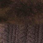 Brown Mlge.-FurBrown Diamond Cable Alpaca Gloves With Fur