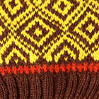 Brown.-Yellow Abbie Alpaca Kids-Hat