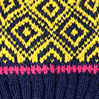 Navy.-Yellow Abbie Alpaca Kids-Hat