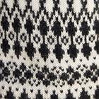 Natural-Black Agathe Turtleneck Alpaca Sweater