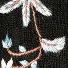 Black Blossom Baby Alpaca Fingerless Gloves