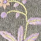 Grey Mlge. Blossom Baby Alpaca Fingerless Gloves