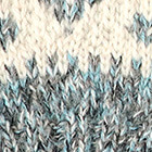 Mixt. Natural-Turquoise Dallas Baby Alpaca Half Finger Gloves