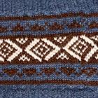 Denim-Brown Ethnic Baby Alpaca Infinity Scarf