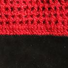 Red-Black Alpaca Crochet Half Finger Driving