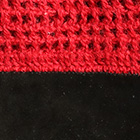 Red-Black Alpaca Crochet Gloves Driving