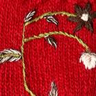 Red Blossom Baby Alpaca Fingerless Gloves
