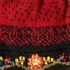 Burgundy Bloom Alpaca Hat-Fleece Lining