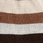 Comb. Black-Brown Reversible Sand Dune Baby Alpaca Hat