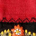 Burgundy Bloom Alpaca Gloves