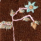 Brown Blossom Baby Alpaca Fingerless Gloves