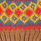 Camel.-Multicolor 1 Cabin Alpaca Kids Hat