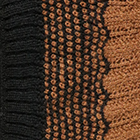 Black-Camel Waves Baby Alpaca Infinity Scarf