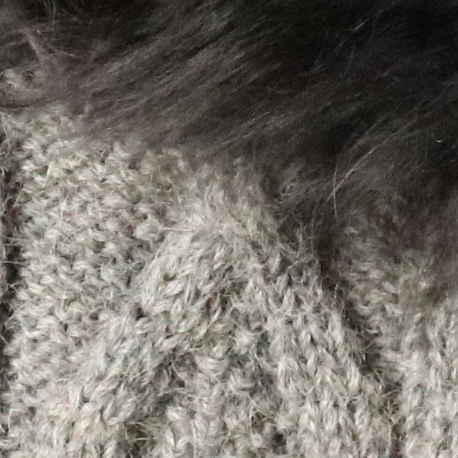 Grey Mlg.-FurCharcoal Diamond Cable Alpaca Gloves With Suri Fur