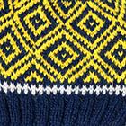 Navy.-Yellow 1 Abbie Alpaca Kids-Hat
