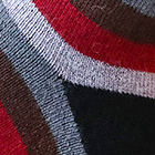 Burgundy-Black Colours Striped Alpaca Socks