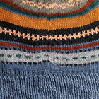 Steel-Multicolor Textured Ski Alpaca Hat