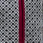 Black-Natural-Burgundy Ludmila Baby Alpaca Full Zip Sweater
