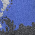 Periwinkle-Charcoal-Lt. Grey. Mariella Alpaca Sweater