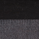 Woven & Brushed Double Face Baby Alpaca Scarf-Heavy Weight in Black-Charcoal