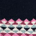 Navy Geometric Knit Alpaca Scarf